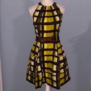 Jessica Simpson printed halter belted dress